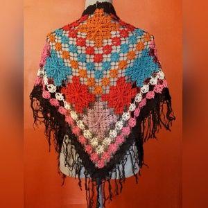 lucky brand crochet shawl/wrap
